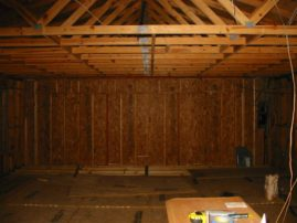 Before - Garage trusses