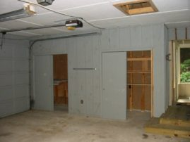 Before - Garage convert to Family Room