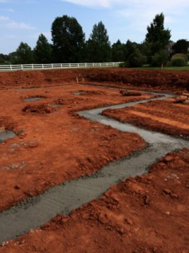 Poured footers