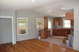 New Kitchen Cabinets. 8' ceiling raised to vaulted!