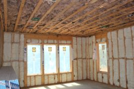 Lower level BR - sound barrier with spray insulation